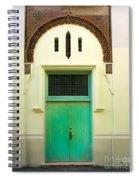 Green Spanish Doors Spiral Notebook