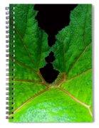 Green Spider Leaf Spiral Notebook