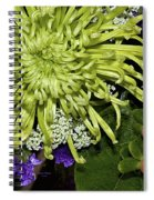 Green Spider Mum Spiral Notebook
