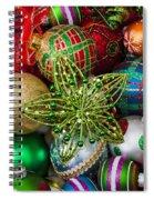 Green Star Christmas Ornament Spiral Notebook