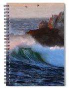 Green Waves Pastel Spiral Notebook