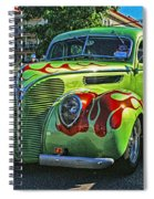 Green With Flames Hdr Spiral Notebook