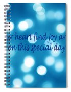 Greeting Card Blue With White Lights Spiral Notebook