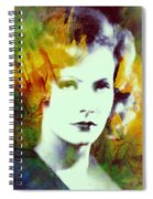 Greta Garbo Abstract Pop Art Spiral Notebook