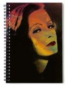 Greta Garbo Pop Art Spiral Notebook