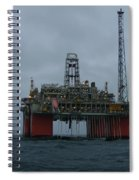 Grey Day At Snorre Spiral Notebook