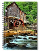 Grist Mill At Babcock Spiral Notebook