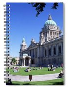 Group Of People Outside A Building Spiral Notebook