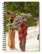 Group Of Women Carrying Firewood Near Spiral Notebook