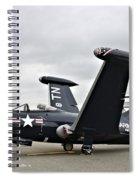 Grumman F9f-5p Panther Spiral Notebook