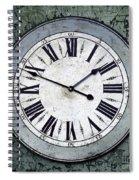 Grungy Clock Spiral Notebook