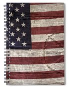 Grungy Textured Usa Peace Sign Flag Spiral Notebook