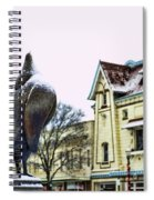 Guard Pigeon And Liberty Theater Spiral Notebook