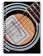 Guitar Abstract 1 Spiral Notebook