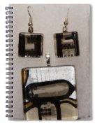 Guitar Glass Tile Set Spiral Notebook
