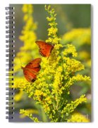 Gulf Fritilaries On Golden Rod Spiral Notebook