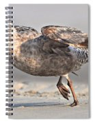 Gull Taking Off Spiral Notebook