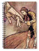 Gulliver In Brobdingnag Kissing The Hand Of The Queen Spiral Notebook