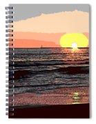 Gulls Enjoying Beach At Sunset Spiral Notebook