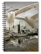 Gulls In The Harbor Spiral Notebook