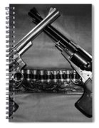 Guns In Black And White Spiral Notebook