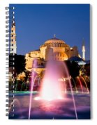 Hagia Sophia At Night Spiral Notebook