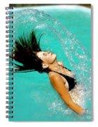Hair Fling Spiral Notebook