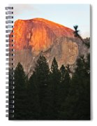 Half Dome Alpenglow Spiral Notebook