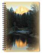Half Dome At Sunset Spiral Notebook
