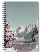Half Dome In The Snow Spiral Notebook