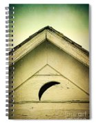 Half Moon On Rurual Outhouse Spiral Notebook