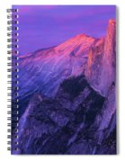Half Purple Dome Spiral Notebook