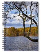 Hall Lake In Autumn No 0118 Spiral Notebook