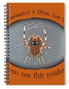 Halloween Greeting Card - Marbled Orb Weaver Spider Spiral Notebook