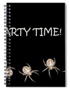 Halloween Greetings. Spider Party Series #01 Spiral Notebook