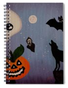 Halloween Night Original Acrylic Painting Placemat Spiral Notebook