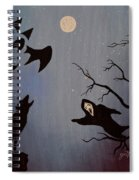Halloween Night Party Original Painting Placemat Doormat Spiral Notebook