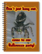 Halloween Party Invitation - Salticid Jumping Spider Spiral Notebook