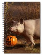 Halloween Pig Spiral Notebook