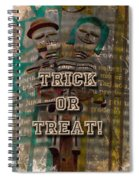 Halloween Trick Or Treat Skeleton Greeting Card Spiral Notebook