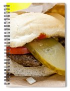 Hamburger With Pickle And Tomato Spiral Notebook