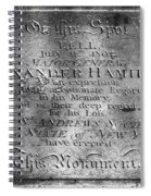 Hamilton: Pamphlet, 1797 Spiral Notebook