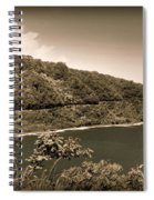 Hana Highway Sepia Spiral Notebook