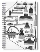 Hand Tools, 1876 Spiral Notebook