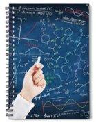 Hand Writing Science Formulas Spiral Notebook
