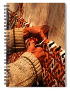 Hands Of The Carpet Weaver Spiral Notebook