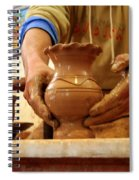 Hands Of The Potter Spiral Notebook
