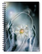 Hands With Atom In Capsule Spiral Notebook