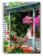 Hanging Baskets And Climbing Roses Spiral Notebook