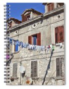 Hanging Out To Dry In Rovinj Spiral Notebook